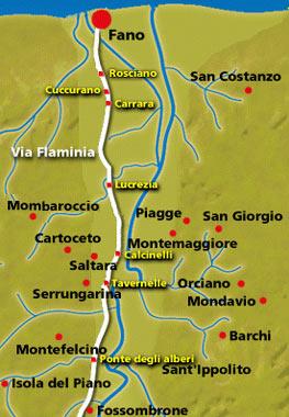 Comuni della bassa valle e insediamenti lungo la Flaminia
